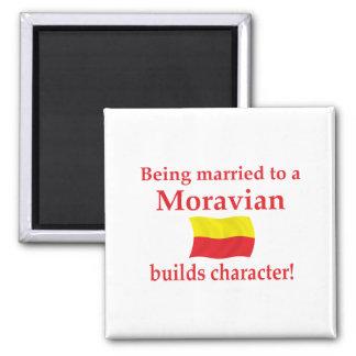 Moravian construye el carácter imán cuadrado