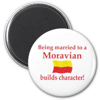 Moravian construye el carácter imán redondo 5 cm