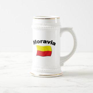 Moravian Flag 2 Beer Stein