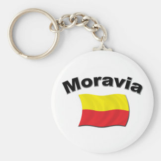 Moravian Flag 2 Key Chains