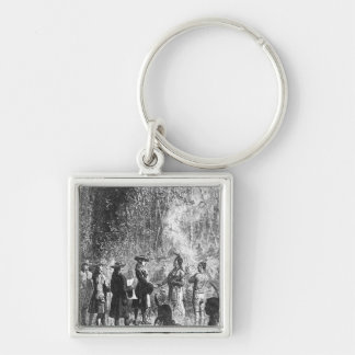 Moravian Missionaries Among the Indians Keychain