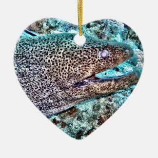 Moray Eel Ceramic Ornament