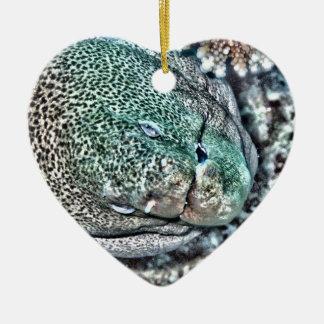 Moray Eel face Ceramic Ornament