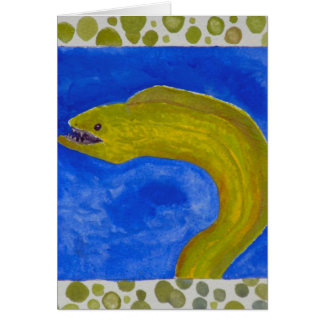 moray eel fish sealife coastal decor card