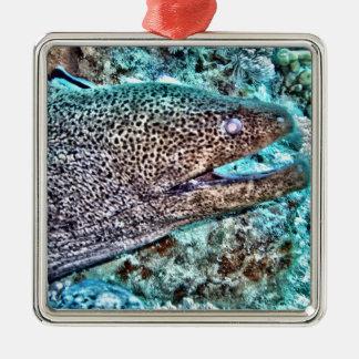 Moray Eel Metal Ornament