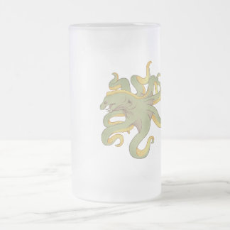 Moray Eel Octopus Frosted Glass Beer Mug