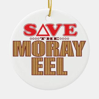 Moray Eel Save Ceramic Ornament