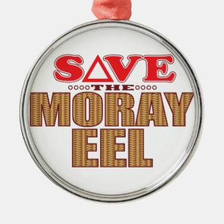 Moray Eel Save Metal Ornament