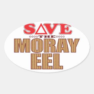 Moray Eel Save Oval Sticker
