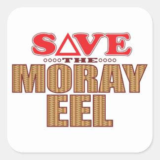 Moray Eel Save Square Sticker