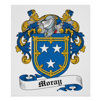 Moray Family Crest Posters