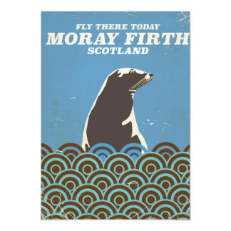 Moray Firth vintage travel poster Card