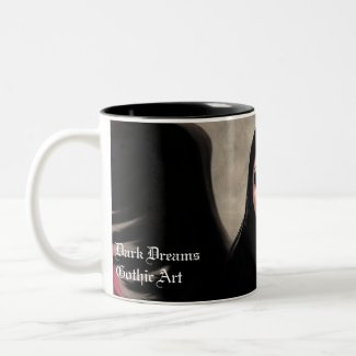 Morbella Wings Of Death Gothic Art mug