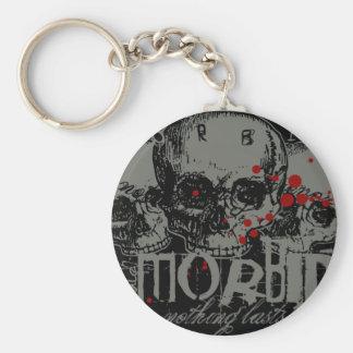 Morbid Basic Round Button Keychain