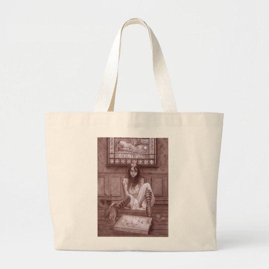 Morbid Beauty Large Tote Bag
