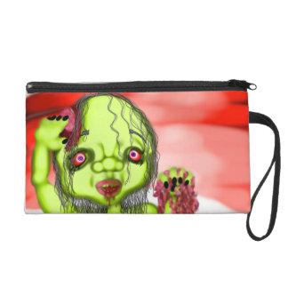 Morbid Zombie Wristlet Purse Bag