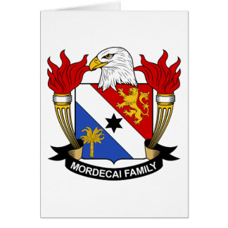 Mordecai Family Crest Greeting Card