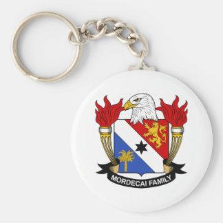 Mordecai Family Crest Keychains