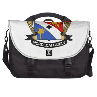 Mordecai Family Crest Laptop Messenger Bag