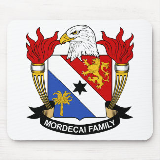 Mordecai Family Crest Mouse Pad