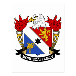 Mordecai Family Crest Postcard