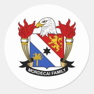 Mordecai Family Crest Classic Round Sticker