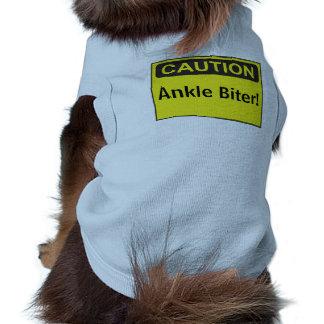Mordedor de encargo del tobillo del mensaje de la camiseta de perro