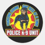 Mordedura de K9 Rottweiler Etiqueta Redonda