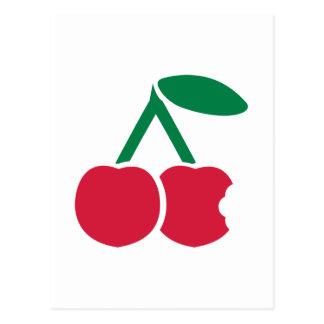 Mordedura roja de las cerezas postal