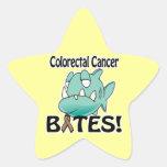 MORDEDURAS colorrectales del cáncer Calcomanía Cuadrada Personalizada