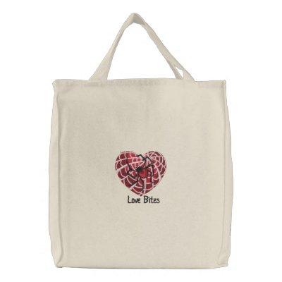 Mordeduras de amor bolsa de lienzo