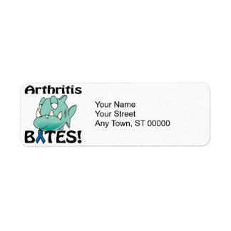 MORDEDURAS de la artritis Etiquetas De Remite