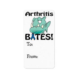 MORDEDURAS de la artritis Etiqueta De Dirección