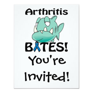 """MORDEDURAS de la artritis Invitación 4.25"""" X 5.5"""""""