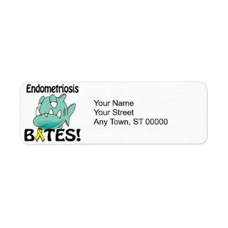 MORDEDURAS de la endometriosis Etiquetas De Remite