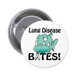 MORDEDURAS de la enfermedad pulmonar Pin Redondo 5 Cm