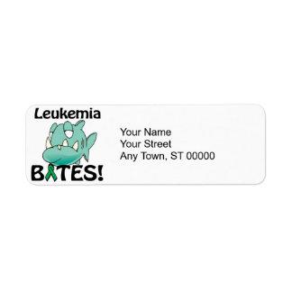 MORDEDURAS de la leucemia Etiquetas De Remite
