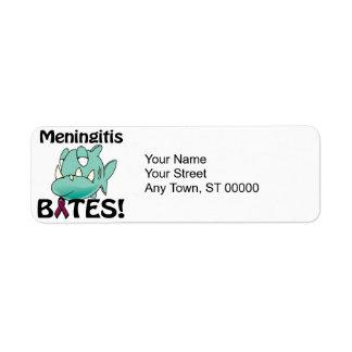 MORDEDURAS de la meningitis Etiqueta De Remite