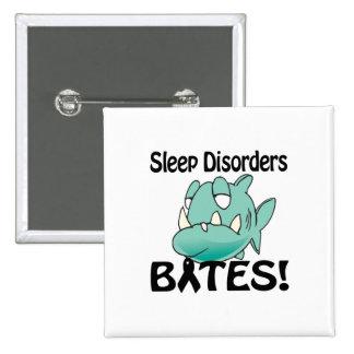 MORDEDURAS de los trastornos del sueño Pin Cuadrada 5 Cm