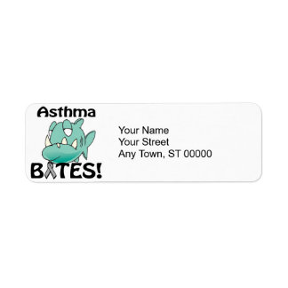 MORDEDURAS del asma Etiqueta De Remite