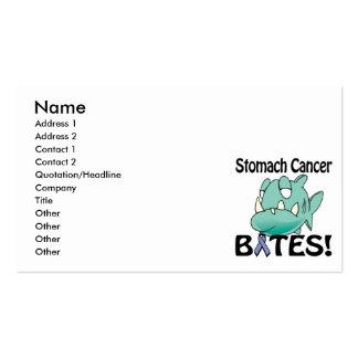 MORDEDURAS del cáncer de estómago Tarjeta Personal