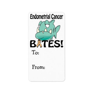 MORDEDURAS del cáncer endometrial Etiqueta De Dirección