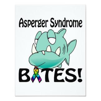 MORDEDURAS del síndrome de Asperger Invitación 10,8 X 13,9 Cm