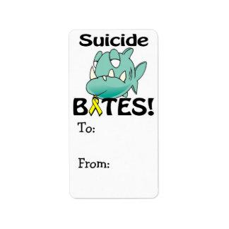 MORDEDURAS del suicidio Etiquetas De Dirección