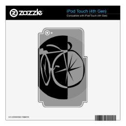 Morden Elegant Bike Design iPod Touch 4G Decal