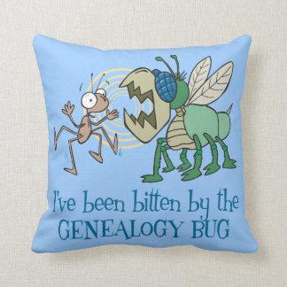 Mordido por el insecto de la genealogía almohadas