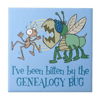 Mordido por el insecto de la genealogía azulejo cuadrado pequeño