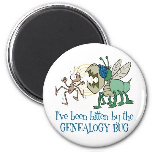 Mordido por el insecto de la genealogía imán para frigorifico