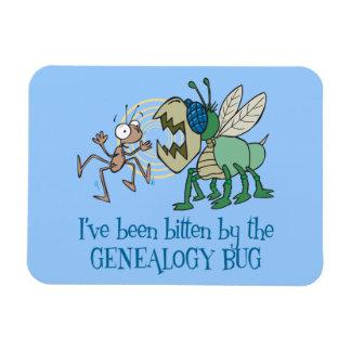 Mordido por el insecto de la genealogía imán de vinilo