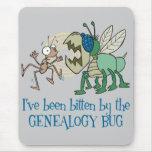 Mordido por el insecto de la genealogía mousepads